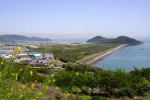 寄島の眺めfrom青佐山台場跡(展望台)
