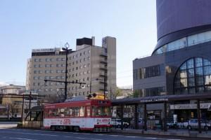 路面電車「城下」駅