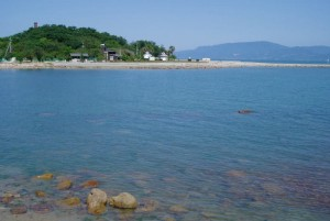 犬島キャンプ場遠景