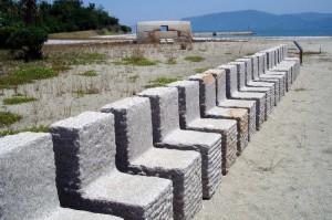 石の作品ー犬島キャンプ場ー