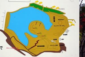 亀島キャンプ場ー案内図ー
