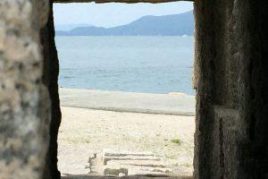 彫刻からの風景ー犬島キャンプ場ー