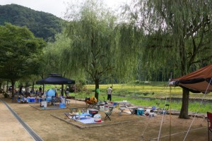 湯の瀬温泉郷キャンプ場ーキャンプサイトー