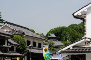 鶴形山の鐘楼ー美観地区入口付近よりー