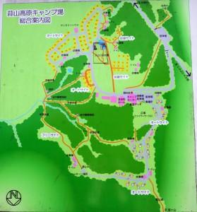蒜山高原キャンプ場ー案内図ー