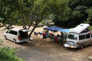 小森オートキャンプ場ーキャンプ風景ー