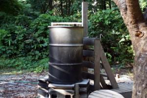 黒木キャンプ場ー第1キャンプ場ードラム缶風呂ー