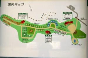 大佐山オートキャンプ場ー案内図ー