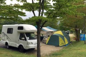 恩原高原オートキャンプ場ーキャンプ風景ー