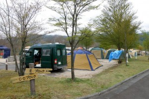 恩原高原キャンプ場ーキャンプ風景ー