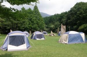 塩釜キャンプ場ーキャンプ風景ー