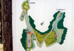 毛無山登山口周辺案内図