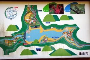 津川ダム周辺案内図