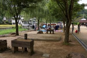 湯の瀬温泉郷キャンプ場ーテントサイトー