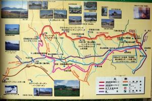 案内図ー蒜山高原自転車道ー