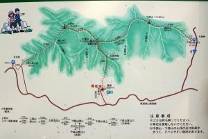 蒜山登山案内図