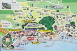 下津井町並み保存地区案内図