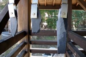 サヌカイトの石琴ー茅部神社ー