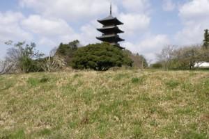 築地土塀跡ー備中国分寺ー