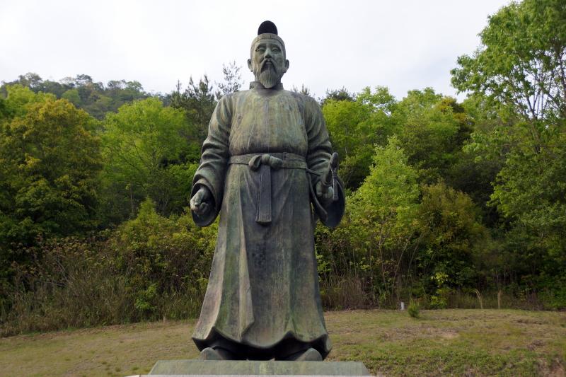 吉備真備公銅像ー吉備真備公園ー