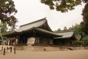 拝殿・祭文殿・本殿ー吉備津彦神社ー