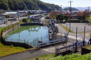 静水池兼沈砂池ー十二ヶ郷用水ー