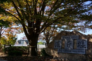 湛井堰碑ー築造八百年記念ー