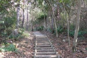 直登コースー福山城跡ー