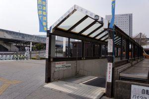 西口駐輪場ー岡山駅ー