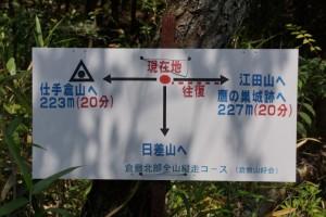 鷹ノ巣城跡案内標識