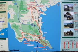 児島風の道案内図