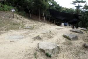 礎石建物跡No.1ー鬼城山ー