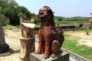 備前焼狛犬ー鯉喰神社ー