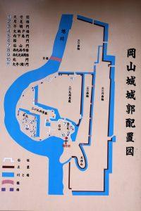 岡山城城郭配置図
