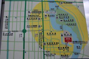 岡山カルチャーゾーン案内図