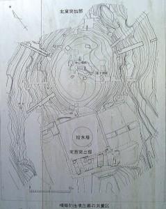 楯築弥生墳丘墓測量図