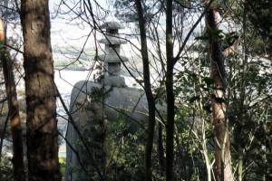 石造り三重塔ー福山城跡八畳岩付近ー