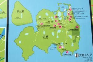 犬島案内図