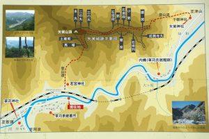 矢筈城跡マップ