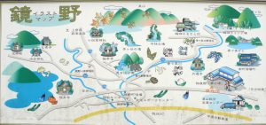 鏡野地区案内図