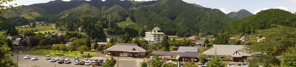 道の駅「奥津温泉」パノラマ