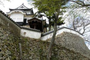 天守閣と石垣ー備中松山城ー
