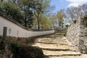 山の平櫓東土塀ー備中松山城ー