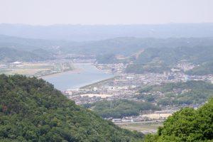 笠岡市街方面ー御嶽山よりー