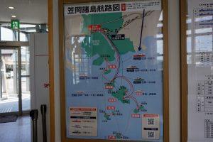 笠岡諸島航路図