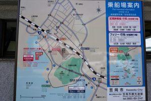 笠岡港案内図
