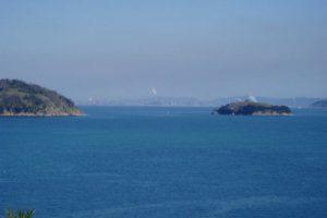 水島臨海工業地帯方面ー真鍋島よりー