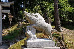 狛イノシシー和気神社ー