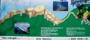 天神山(太鼓丸城跡)案内図
