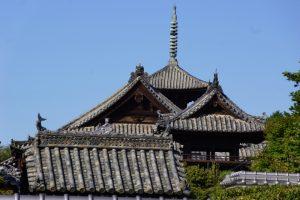 上寺山寺院の屋根ー明王院よりー